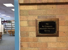 History Room sign